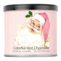 Shabby Pink Vintage Victorian Santa Claus Powdered Drink Mix