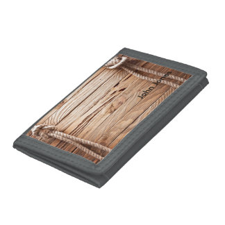Shabby Ropes and Boards Trifold Wallet