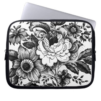 Shabby Rose Bouquet Graphic Art Laptop Sleeve