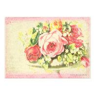 Shabby Rose Collage Art Invite