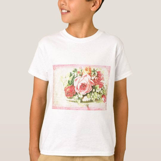 Shabby Rose Collage Art T-Shirt
