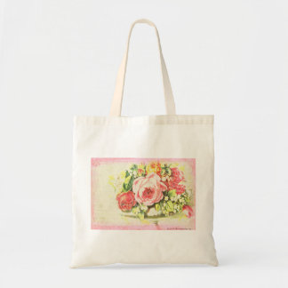 Shabby Rose Collage Art Tote Bag