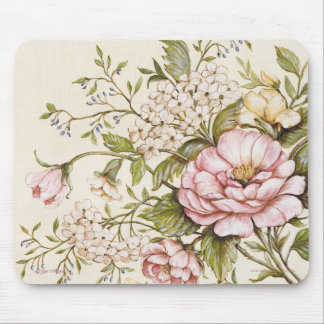 Shabby Roses by Kate McRostie Mouse Pad