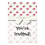 shabby roses pattern invite