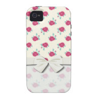 shabby roses pattern vibe iPhone 4 cover