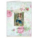 Shabby Roses Thank you card