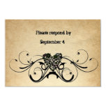 """Shabby Rustic RSVP with envelopes. 3.5"""" X 5"""" Invitation Card"""
