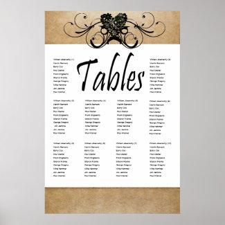 Shabby Rustic Seating Chart zazzle_print