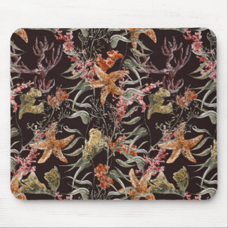 Shabby Sea Life Pattern Mouse Pad