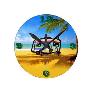 Shabby Sheek On the Beach Round Clock