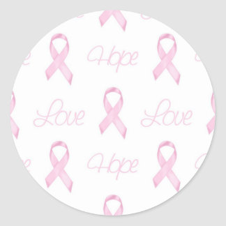 ♥ Shabby Sweet ♥ Breast Cancer ♥ Classic Round Sticker