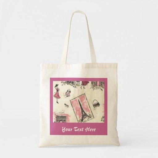 Shabby Sweet Paris Pink Tote Bag
