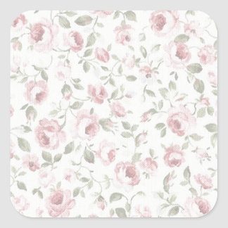 Shabby Sweet Petite Rose Square Sticker