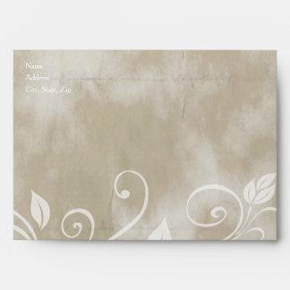 Shabby Taupe Floral Envelopes