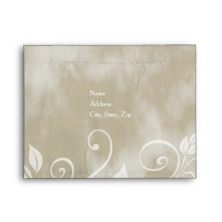 Shabby Taupe Floral (Small) Envelopes