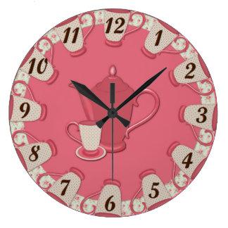 Shabby Tea Cup Wall Clock