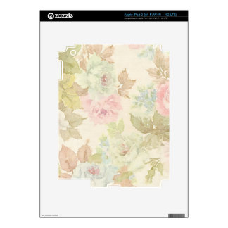 Shabby Tea Party Decals For iPad 3