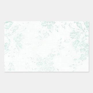 Shabby Tiffany Rectangular Sticker