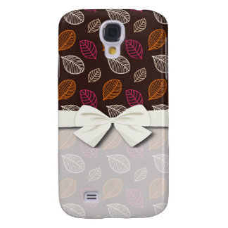shabby tiny etched leafy design samsung s4 case