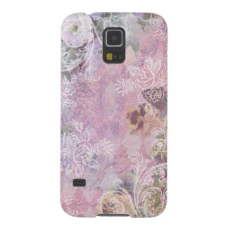Shabby Vintage Floral Case For Galaxy S5