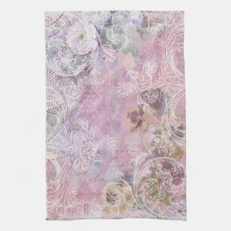 Shabby Vintage Floral Kitchen Towel