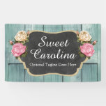 Shabby Vintage Roses Rustic Country Chalkboard Banner at Zazzle