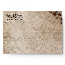 shabby vintage rustic envelope