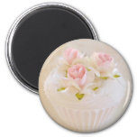Shabby Vintage Style Cupcake Magnet