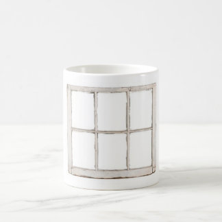Shabby window pane coffee mug