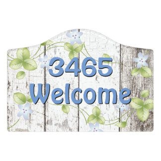 Shabby Wood Look Welcome Door Sign