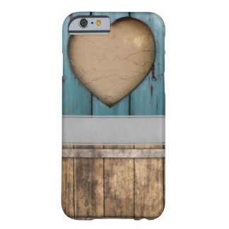 ShabbyChic Blue, Pink Hearts accessories, add name Barely There iPhone 6 Case
