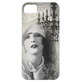 shabbychic Chandelier Vintage Paris Lady Fashion iPhone 5 Covers
