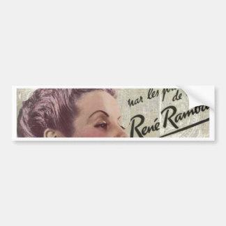 shabbychic crown Vintage Paris Lady Fashion Bumper Sticker
