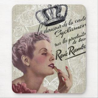 shabbychic crown Vintage Paris Lady Fashion Mouse Pad
