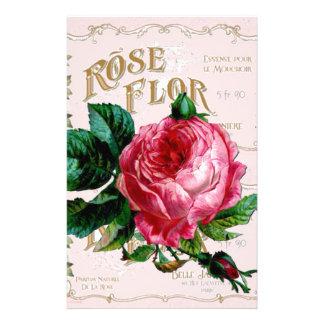 SHABBYCHIC English Rose vintage pink Stationery