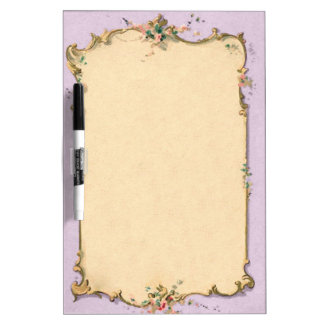 ShabbyChic French style frame template - pinks Dry Erase Board