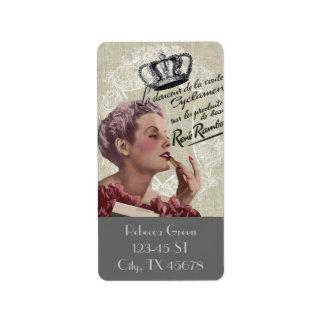 shabbychic Posh Vintage Paris Lady Fashion Label