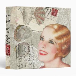 shabbychic seashell Vintage Paris Lady Binder