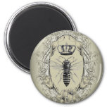 shabbychic Victorian Bee Queen crown Fashion Magnet