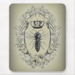 shabbychic Victorian Bee Queen crown Fashion Mousepads