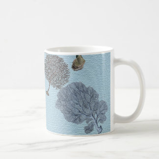 shabbyChic Vintage blue Coral fashion Coffee Mug