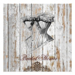ShabbyChic Vintage Corset Bridal Shower Invitation
