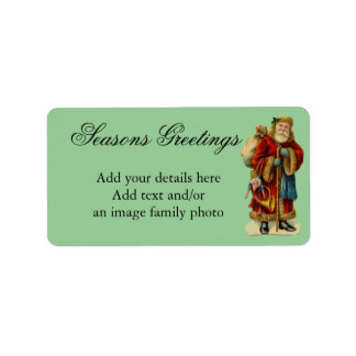 SHABBYCHIC vintage xmas decorations Label