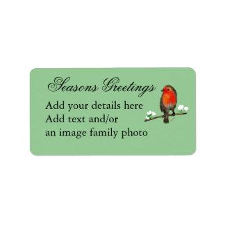 SHABBYCHIC vintage xmas decorations Personalized Address Labels
