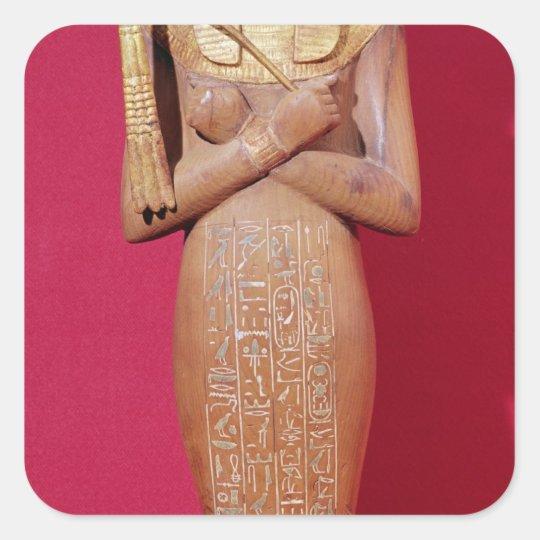 Shabti figure of king from Tomb of Tutankhamun Square Sticker