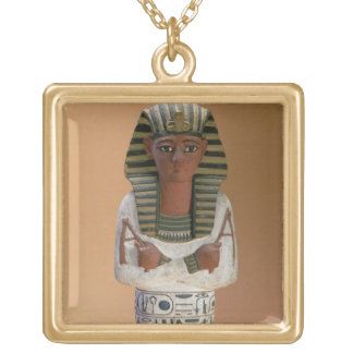 Shabti figure of Ramesses IV, New Kingdom (stuccoe Gold Plated Necklace