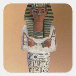 Shabti figure of Ramesses IV, New Kingdom (stuccoe Square Sticker