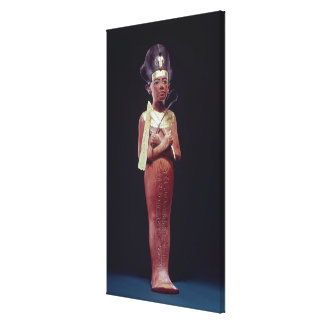 Shabti figure of the king canvas print