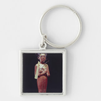 Shabti figure of the king Silver-Colored square keychain