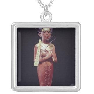 Shabti figure of the king square pendant necklace